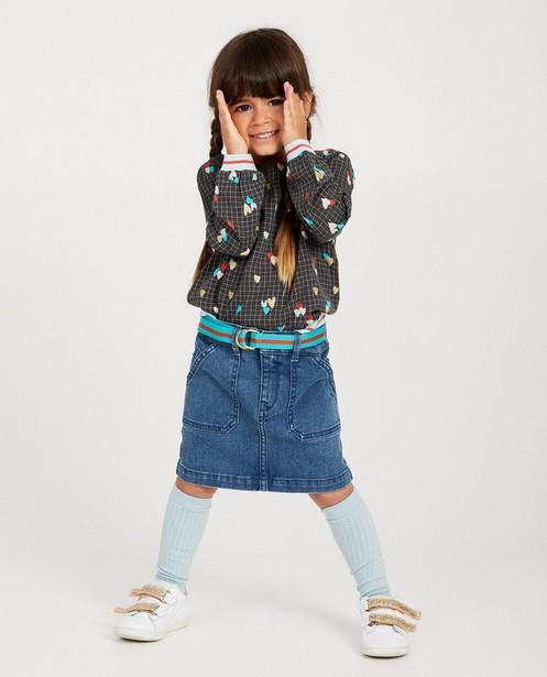 Jupe en jeans bleue Maya - avec ceinture - Maya