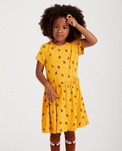 Robe jaune, imprimé animal