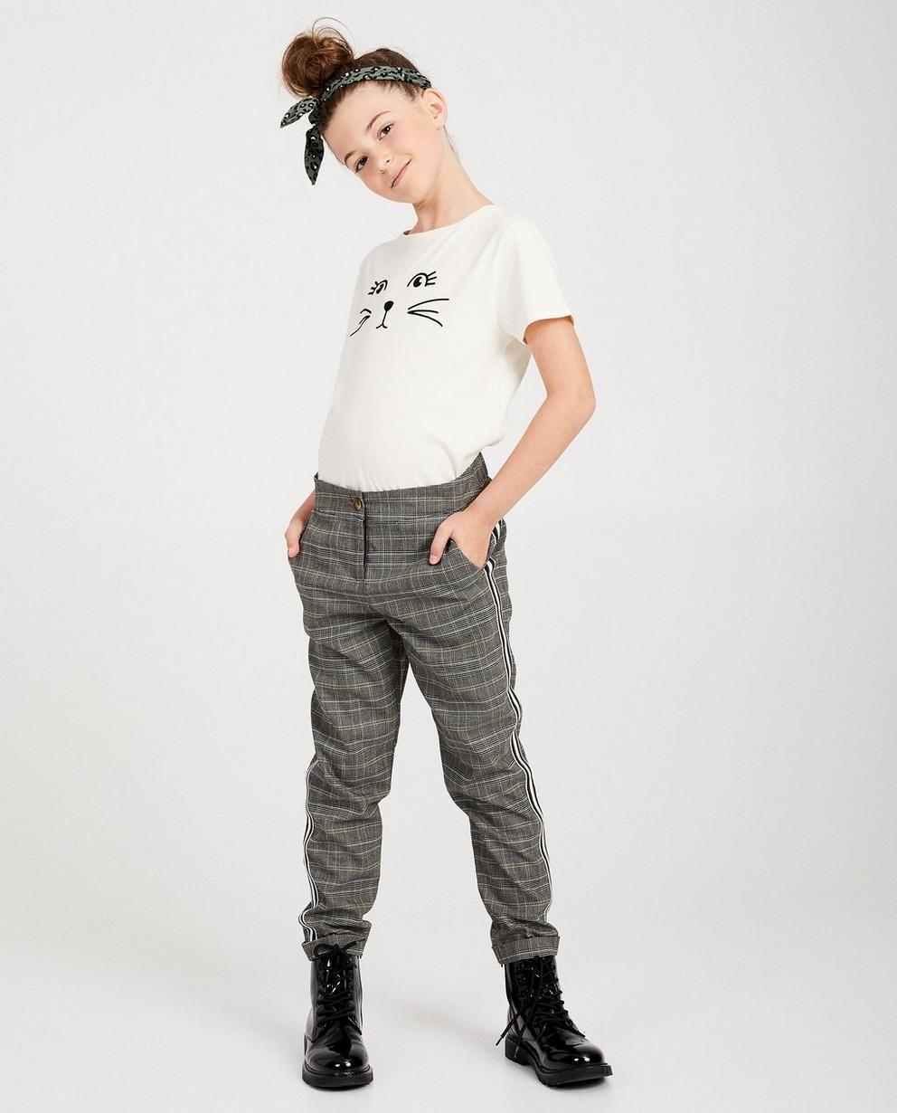 T-shirt blanc, imprimé de chat - noir - JBC