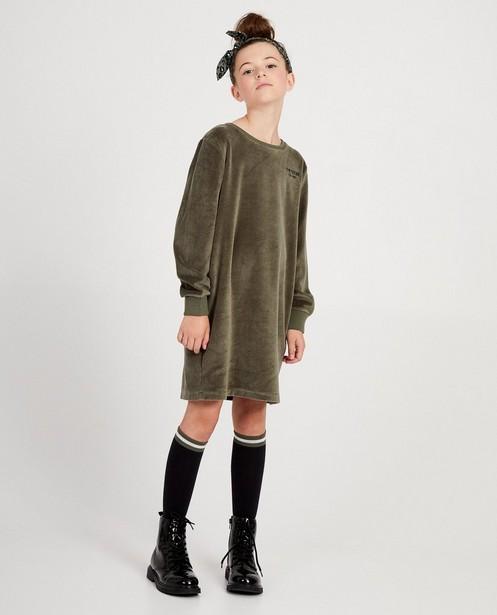 Robes - Robe molletonnée verte