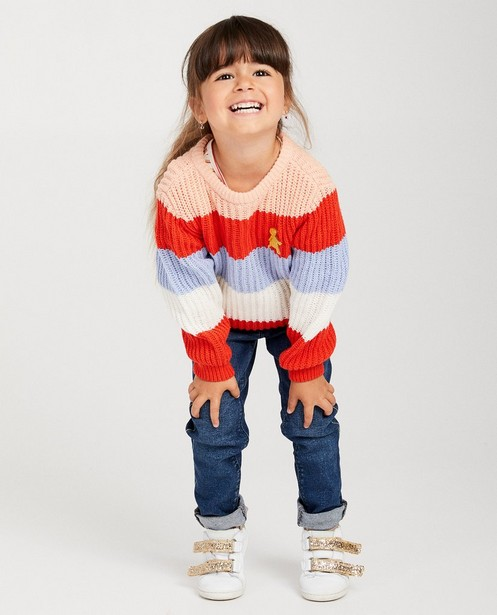 Pull color block Heidi - tricot à grosses mailles - Heidi
