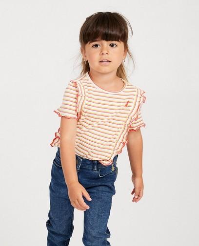 Wit T-shirtje met strepen Heidi
