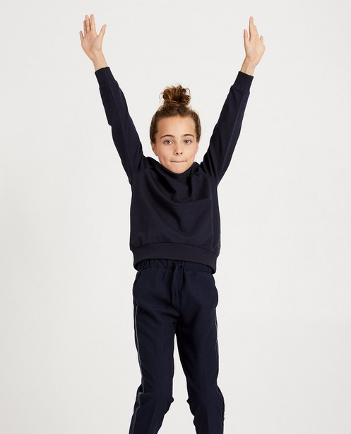 Sweats - navy - Sweat bleu marine avec du velours