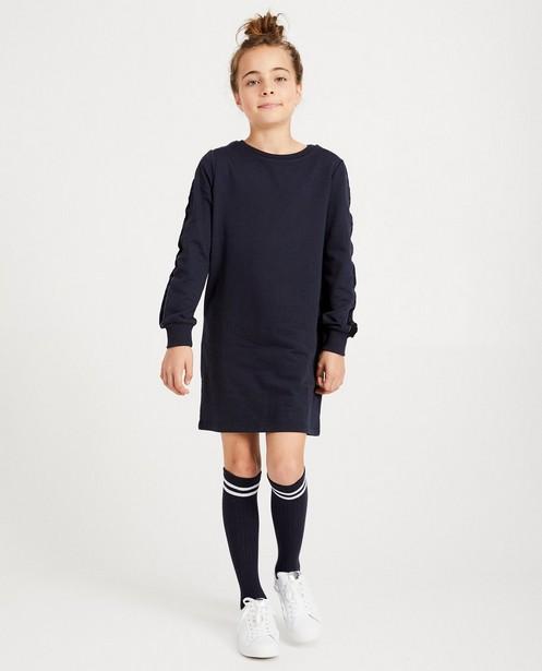 Robe molletonnée bleu marine - bande en velours - JBC