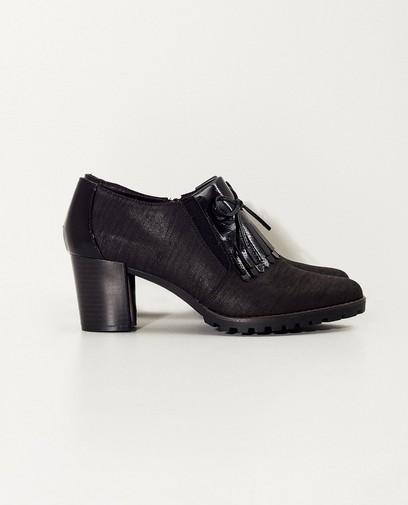 Zwarte schoen met hak