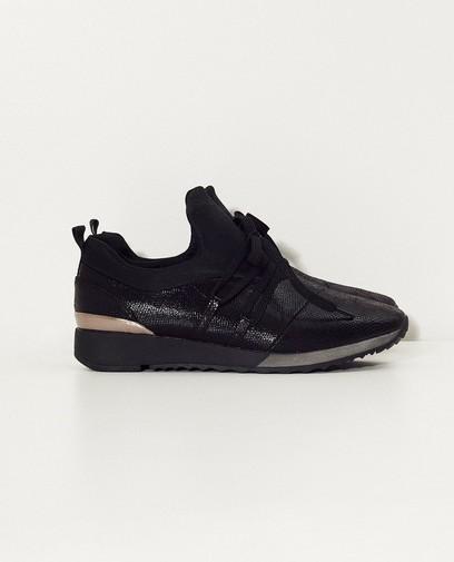 Zwarte sneaker met lak