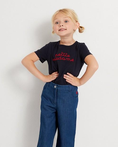 T-shirts - navy - T-shirt bleu foncé à inscription