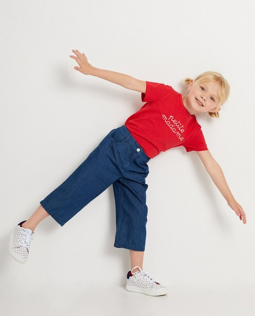 T-shirt rouge à inscription - en tissu - JBC