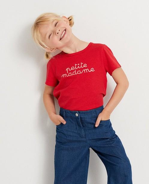 T-shirts - T-shirt rouge à inscription
