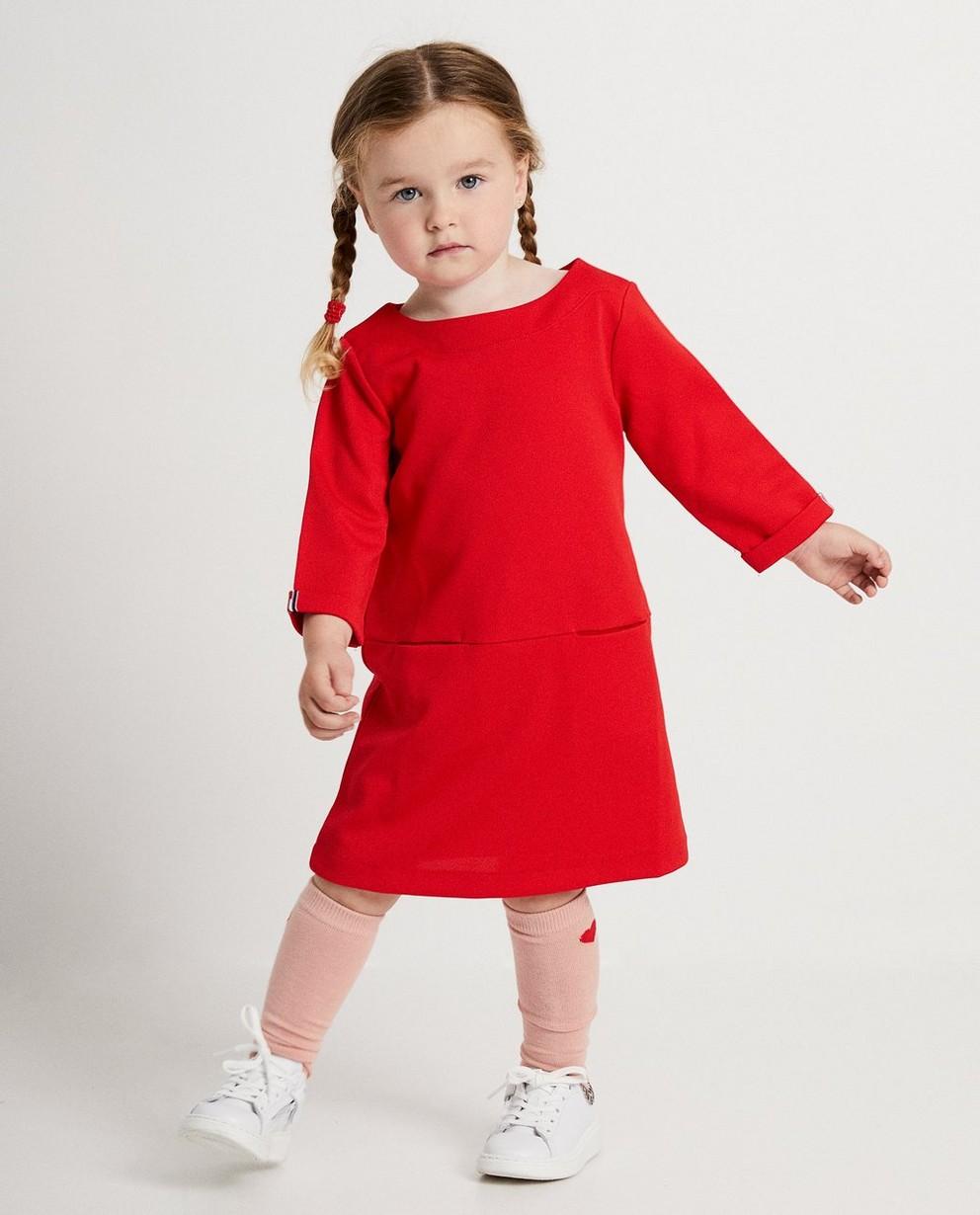 Robe rouge - avec une fine structure - JBC