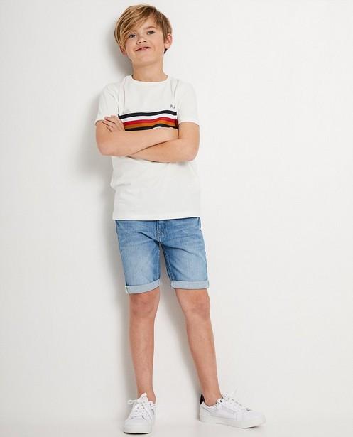 Wit T-shirt Baptiste 7-14 jaar - met strepen - JBC