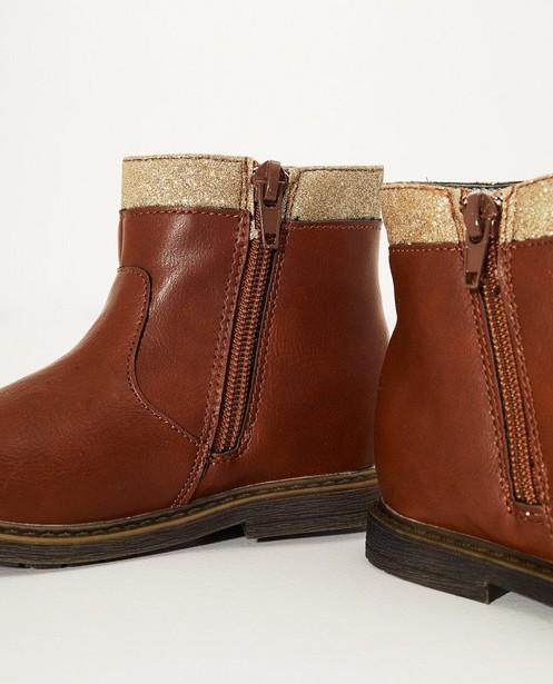 Chaussures - Bottillons bruns à paillettes