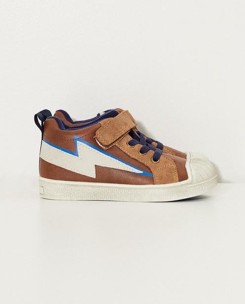 Chaussures brunes pour bébés - imprimé d'éclairs - Sprox