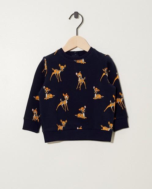 Sweat bleu, imprimé Disney - Bambi - Mickey
