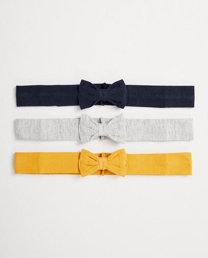 Set van 3 haarbandjes met strik