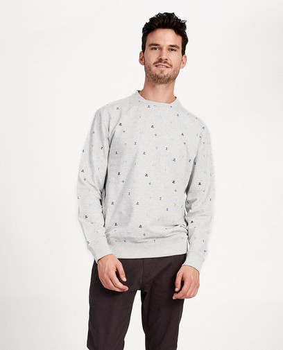 Grijze sweater met print I AM