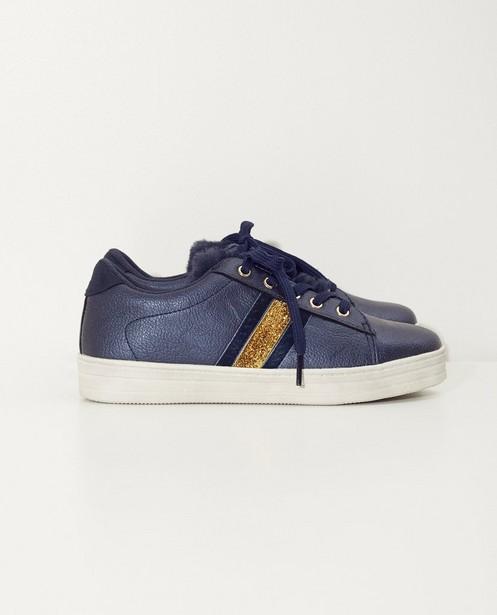Blauwe sneakers, maat 28 - 32 - met gouden strook - Sprox
