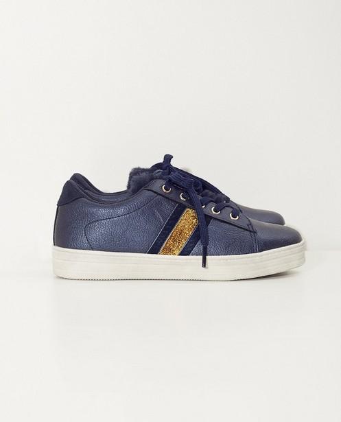 Baskets bleues, 33-38 - fourrure - Sprox