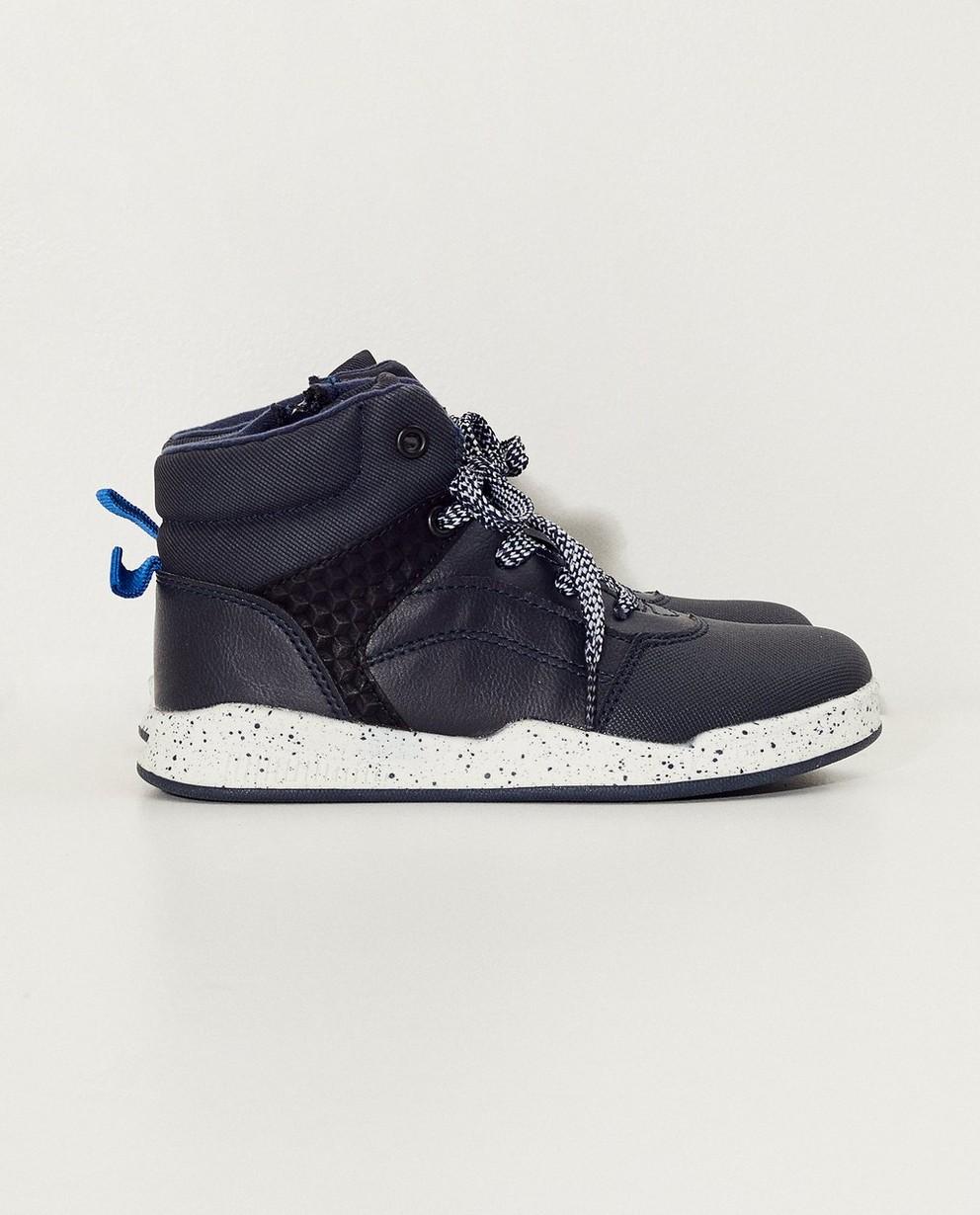 Baskets hautes bleues, 33-38 - bleues et blanches - Sprox