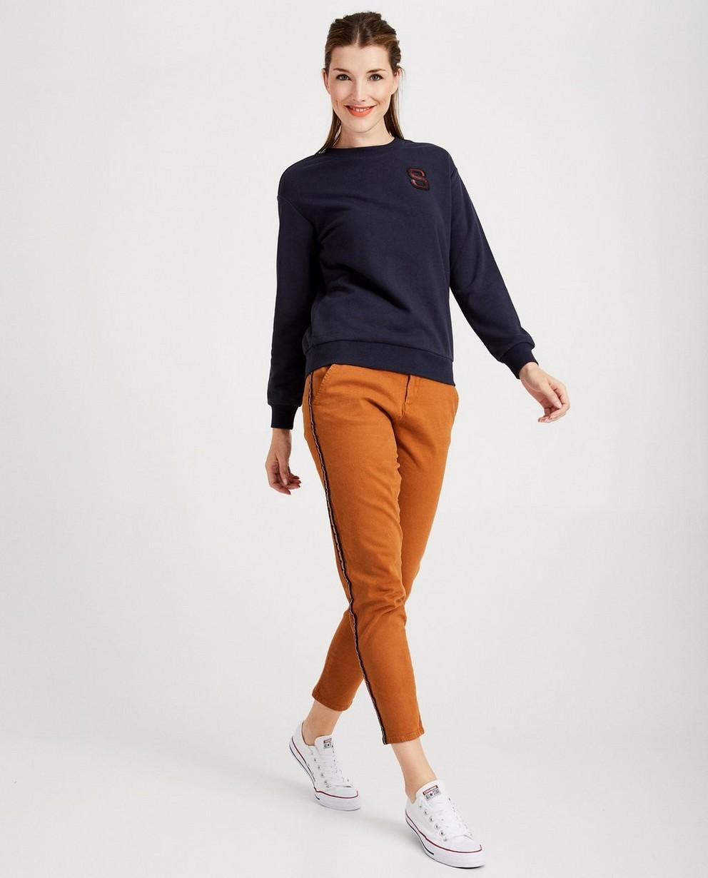 Bruine broek met streep Sora - aan de zij - Sora