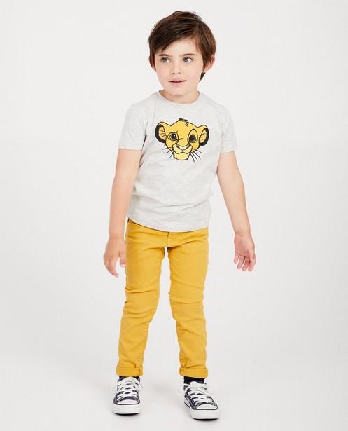 T-shirt gris Roi Lion, Disney - chiné - Lion King