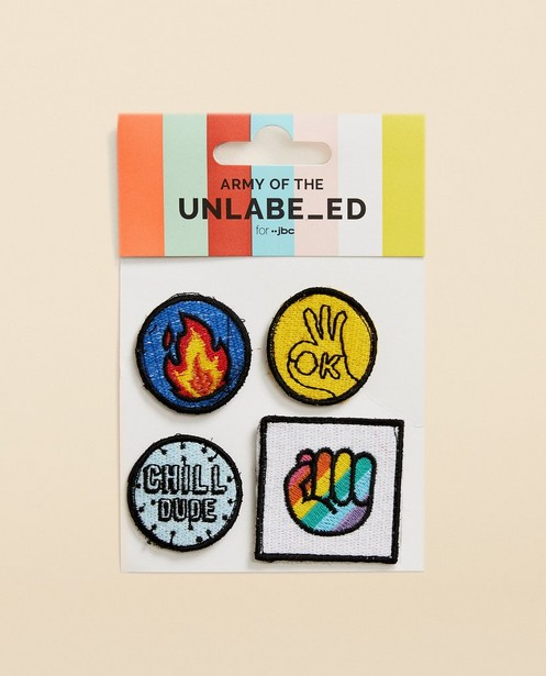 4 patches Army of the Unlabeled - ensemble de 4 badges - army