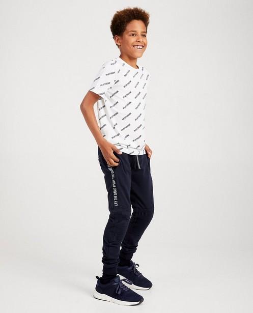 Pantalon de jogging bleu - inscription sur le côté - JBC