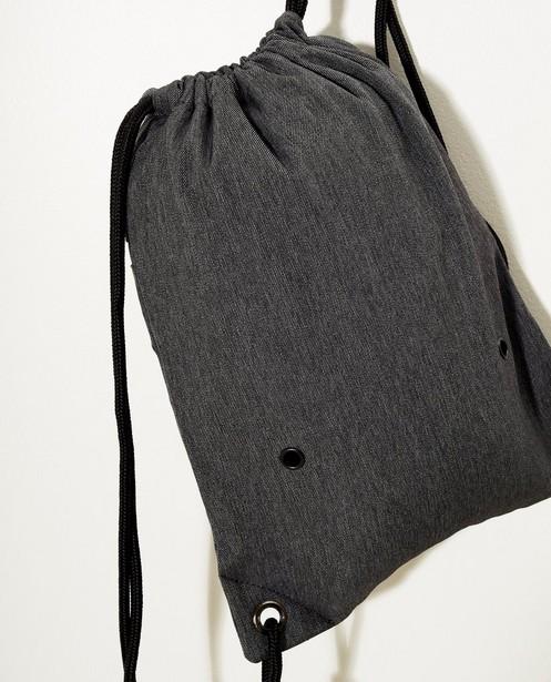 Handtassen - Donkergrijze turnzak met lamaprint