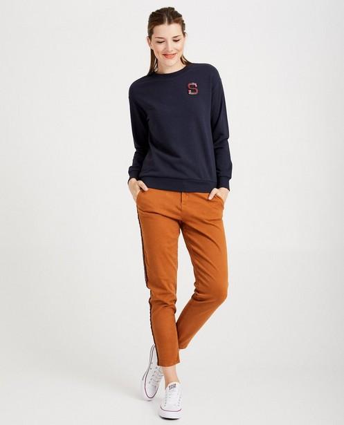 Marineblauwe sweater Sora - met pailletten - Sora