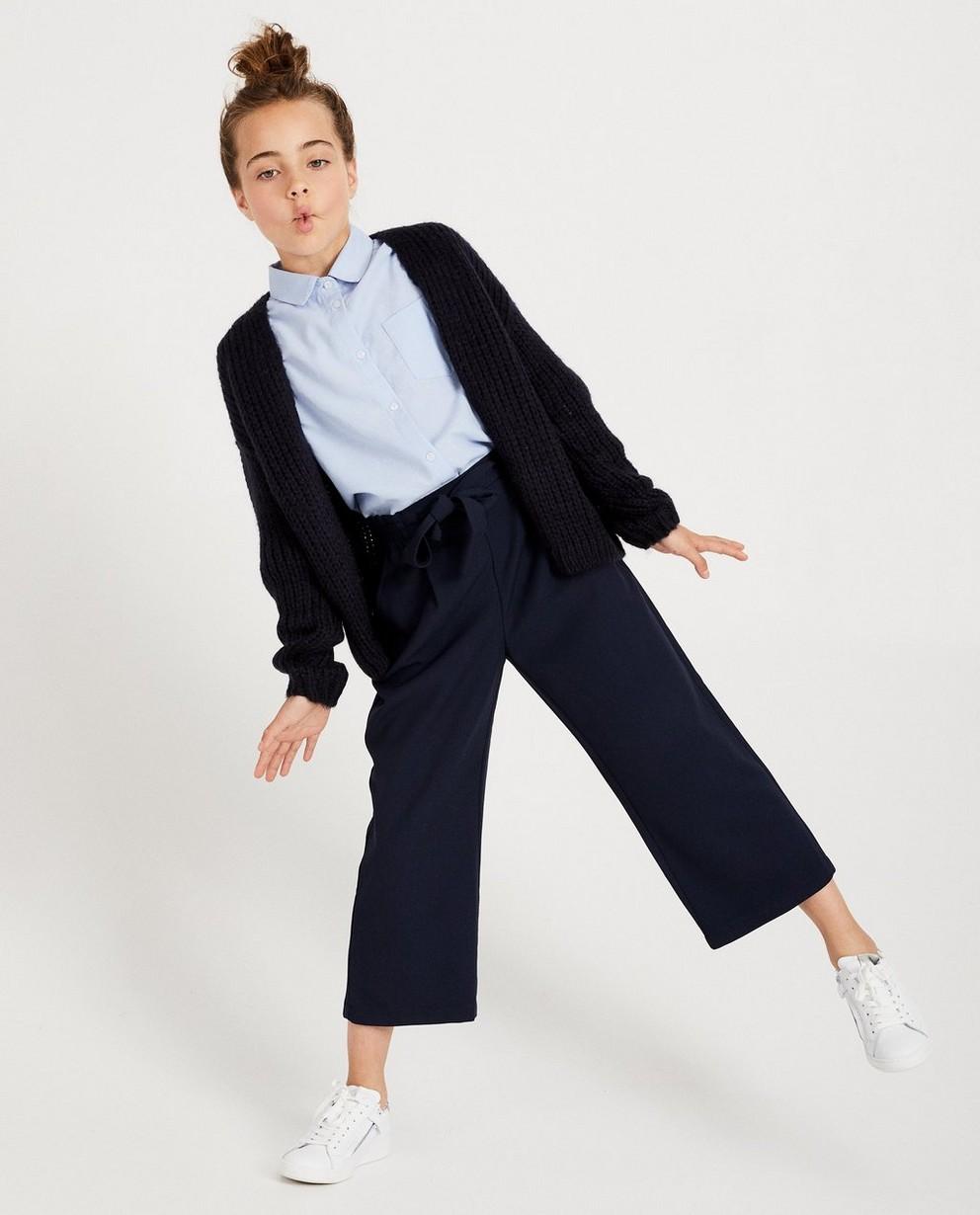 Cardigan bleu marine - tricot à grosses mailles - JBC