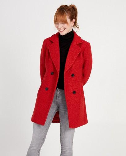 Rode halflange mantel
