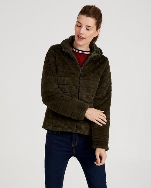 Zomerjassen - Omkeerbare donkergroene jas