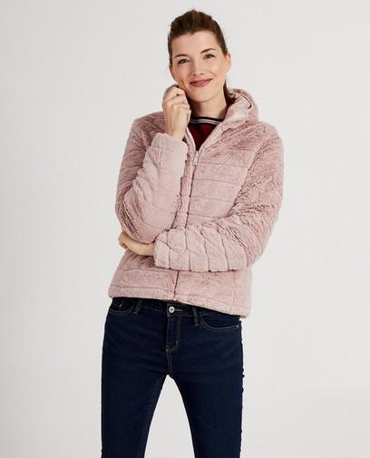 Omkeerbare roze jas