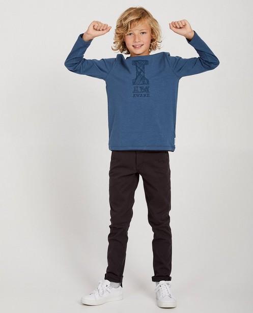 T-shirt à manches longues I AM - coton bio, broderies - I AM