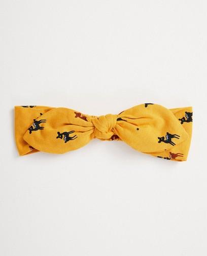 Gele haarband met dierenprint