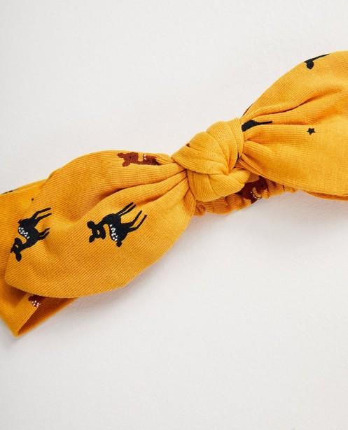Bonneterie - AO2 - Bandeau jaune, imprimé animal