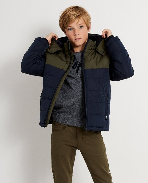 Teddys - navy - Veste color block Campus 12