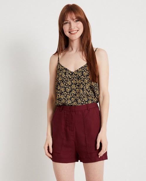 Hemden - AO1 - Zwarte top met print Karen Damen