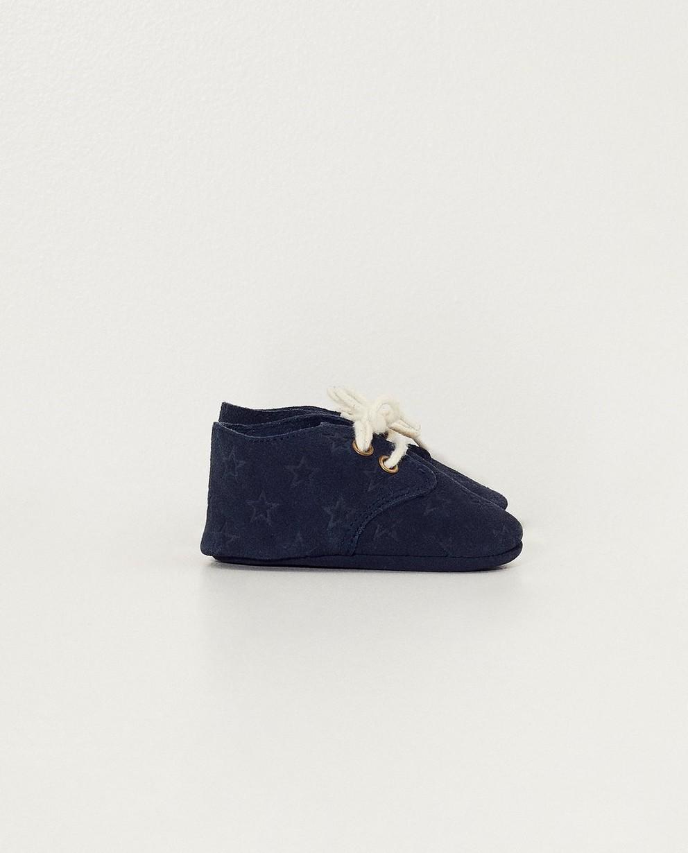 Chaussures bleues pour bébés - imprimé intégral - JBC