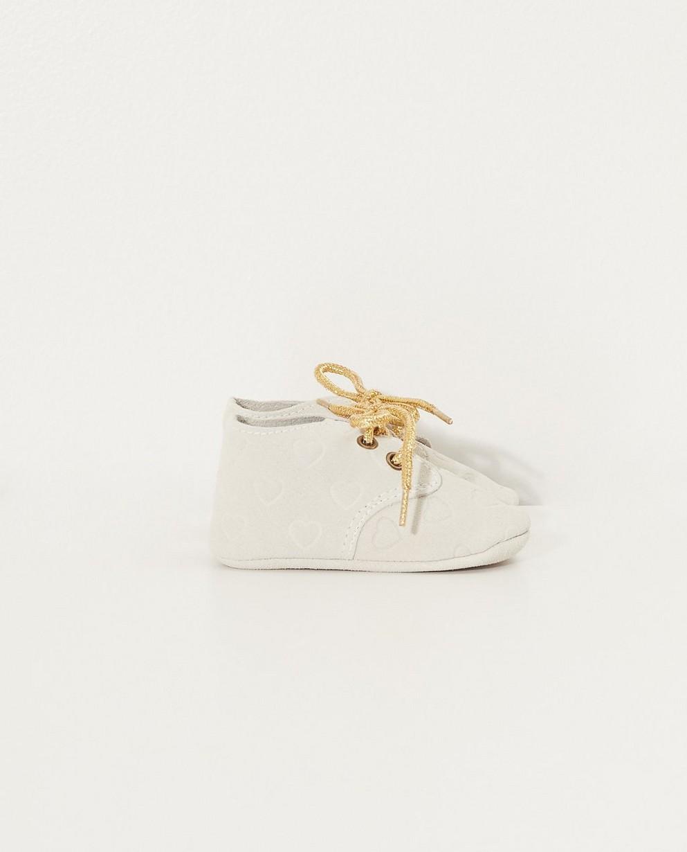 Chaussures - Collection de fête - écrus avec des petits cœurs - JBC