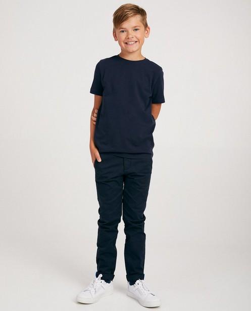 Effen blauw T-shirt - schooluniform - JBC