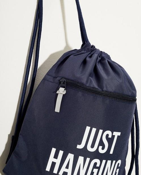 Sacs - navy - Sac de gym bleu à inscription