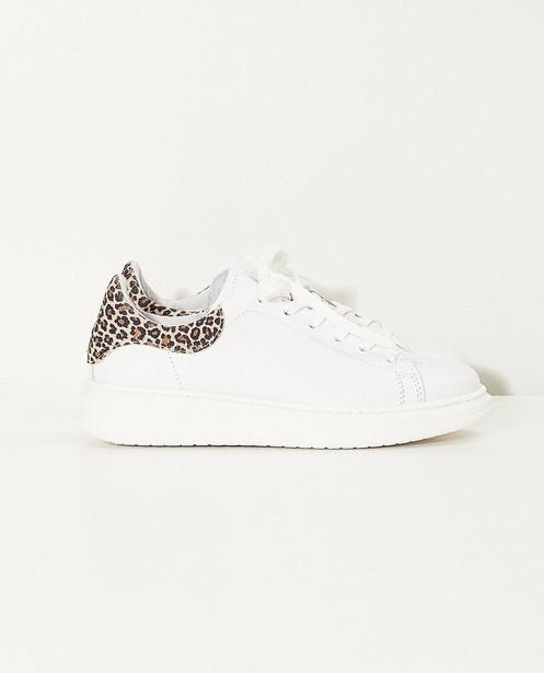 Witte sneakers, maat 27-32 - met rits - JBC