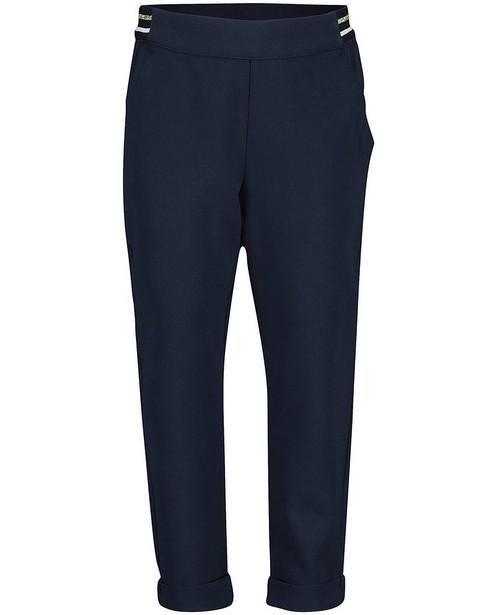Pantalon bleu, rayure dorée - à l'élastique - JBC
