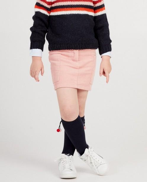 Jupes - Jupe rose, velours côtelé