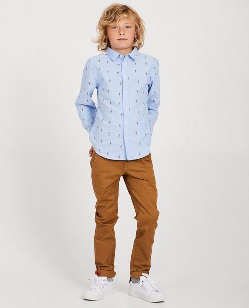 Pantalon brun - détails orange - JBC