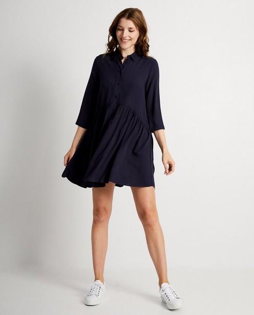 Marineblauwe jurk - viscose - JBC