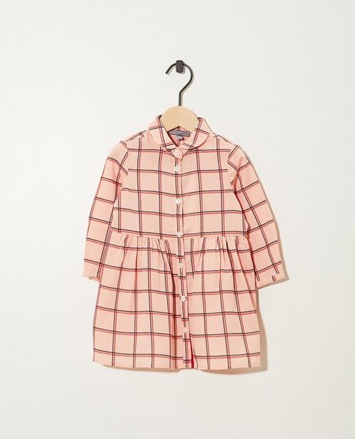 Robe rose, imprimé à carreaux - sur toute la surface - JBC