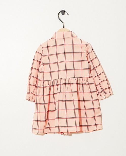 Robes - AO1 - Robe rose, imprimé à carreaux
