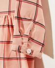 Robes - Robe rose, imprimé à carreaux